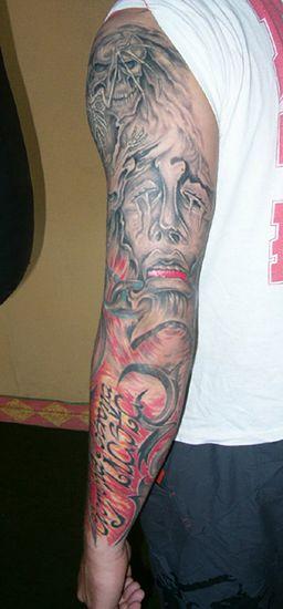 Malowidła Na Skórze śmierć I Upadły Anioł Tatuaże Internautów