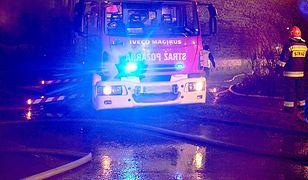 Dwa pożary w Łodzi. Nie żyje mężczyzna, ranne dzieci
