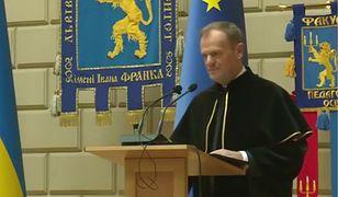 Lwów. Donald Tusk doktorem honoris causa