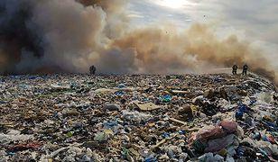Radomsko: pożar składowiska odpadów