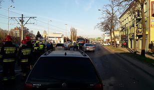 Karambol w Łodzi, ranne dzieci. Trwają poszukiwania kierowcy