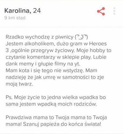 proste przykłady profilu randkowego