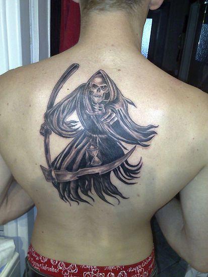 Malowidła Na Skórze śmierć I Upadły Anioł Tatuaże