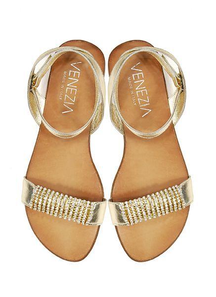 bcbdb4c0f3ba6 Płaskie sandały i klapki w kolekcji Venezia - WP Kobieta