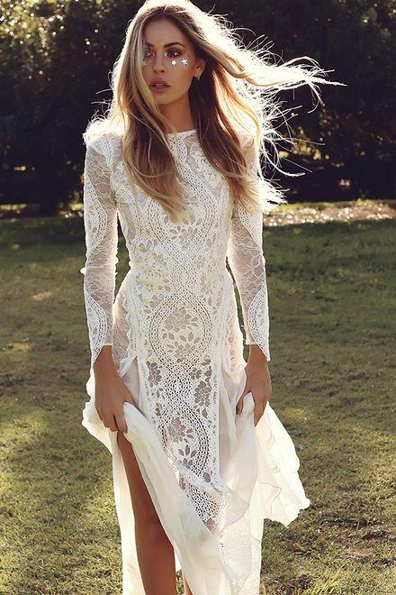 Suknia ślubna Z Długim Rękawem Wp Kobieta