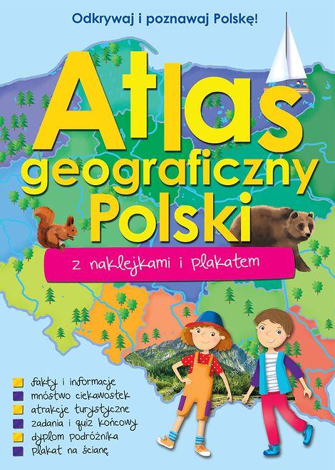 Atlas geograficzny Polski z naklejkami i plakatem - książka - WP ...