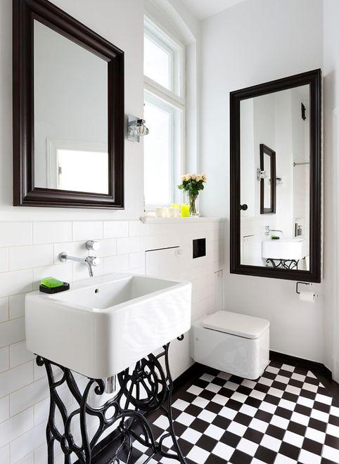 Urocze Retro W łazience Aranżacja łazienki Retro
