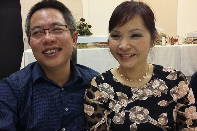 Hoai Nam Trinh z żoną