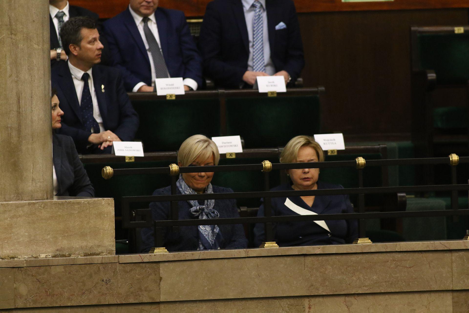 Julia Przyłębska i Małgorzata Gersdorf razem na orędziu