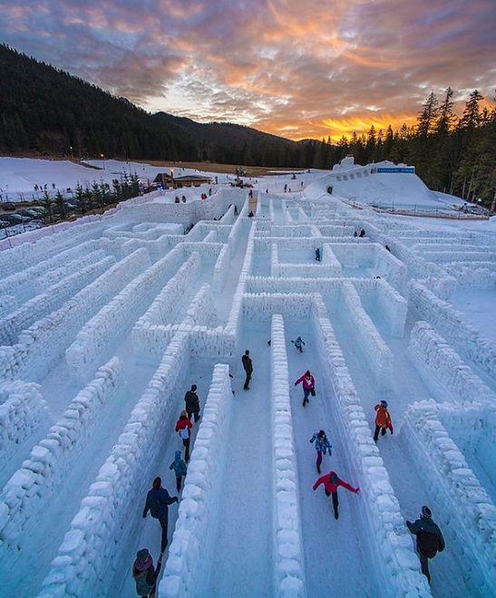 Zakopane Powstaje Najdłuższy Na świecie Labirynt Ze śniegu I Lodu