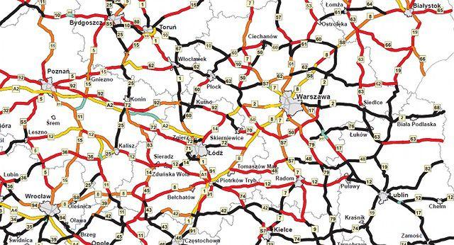 Mapa Zagrozenia Na Polskich Drogach Wp Moto