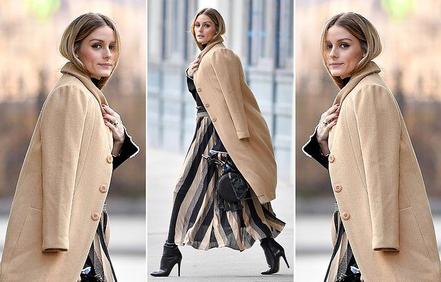 Zimowy płaszcz damski Zartex Nathale czarny wiązany z futrzanym kołnierzem