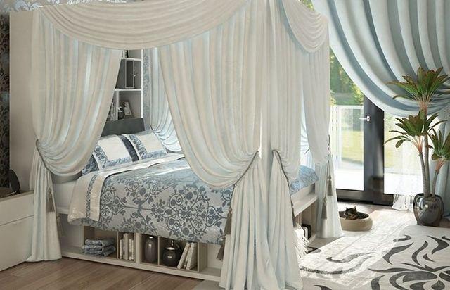 łóżko Z Baldachimem W Staromodnym Stylu Wp Dom