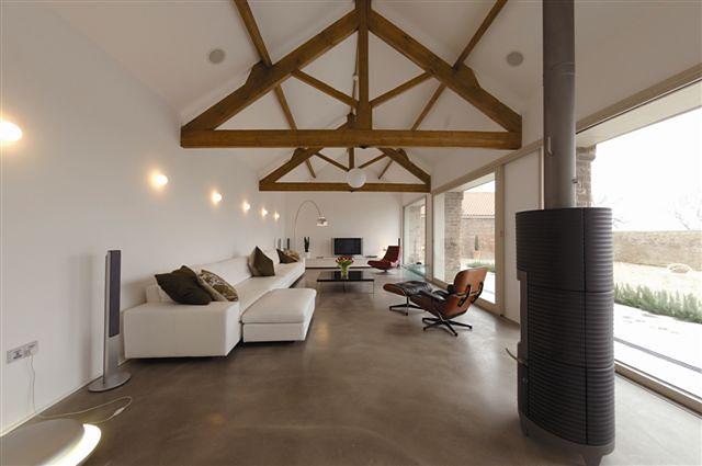 Groovy Nowoczesna podłoga: z żywicy, betonu, szkła. Zdjęcia wnętrz - WP Dom TH87
