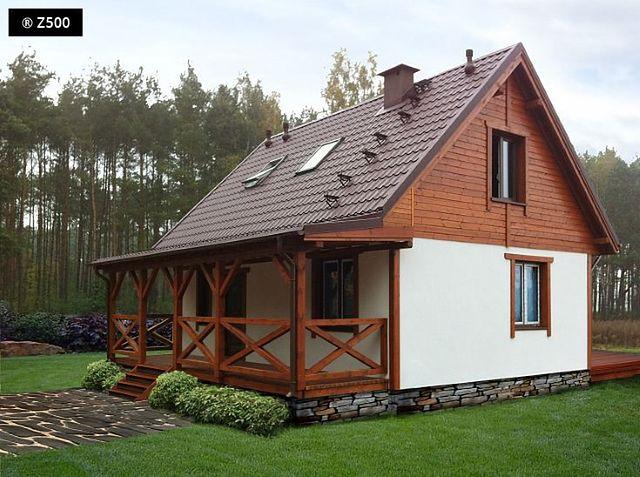 Masywnie Domy z drewnem w roli głównej - Drewniana elewacja domu. Ciekawe DP56