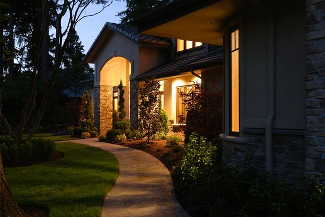 Oświetlenie Zewnętrzne świetlna Kreacja Na Elewacji Domu