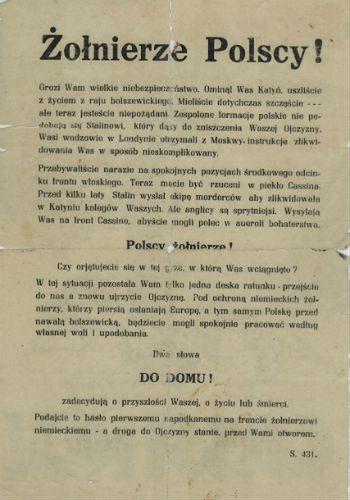 Niemiecka polskojęzyczna rozgłośnia propagandowa ''Wanda