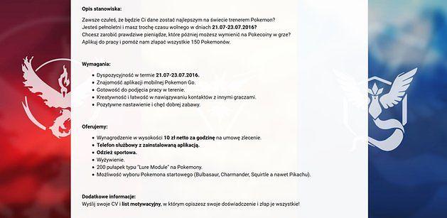 b147ad1ad9cc1 Szukasz pracy  Zostań trenerem pokemonów! - WP Finanse