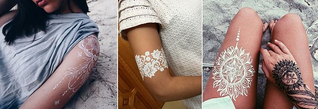 Biały Tatuaż Najmodniejsze Tatuaże Koronkowe Z Henny Wp Kobieta
