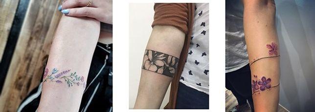 Tatuaż Bransoletka Dyskretny Urok Kobiecej Ręki Najlepsze Wzory I