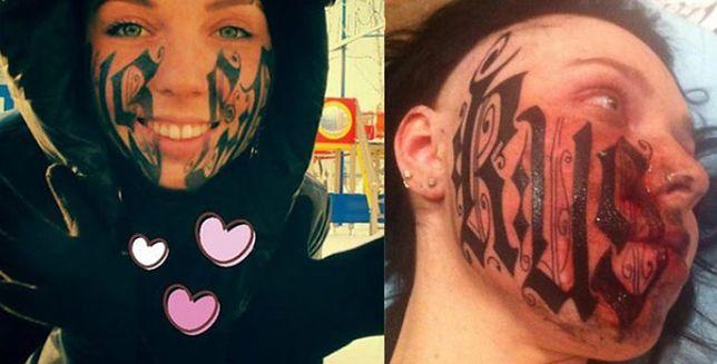 Wstrętny Tatuaż Oszpecił Twarz Młodej Dziewczyny Zobacz Co