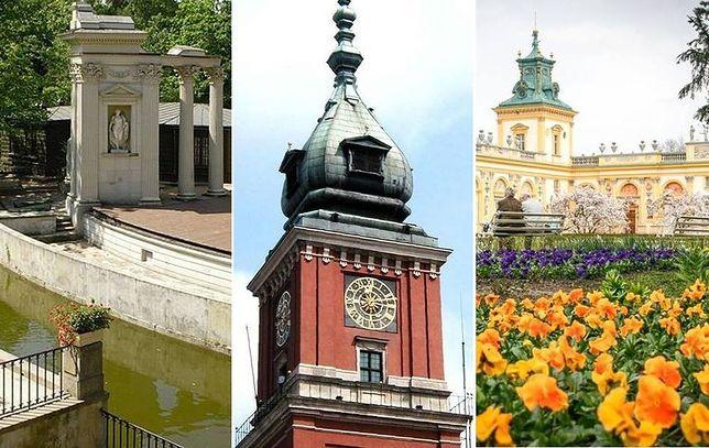 Zamek Królewski łazienki Królewskie I Pałac W Wilanowie W