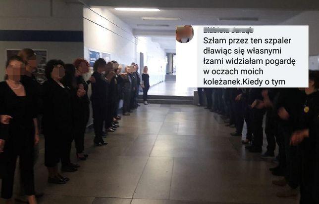 nauczyciel spotyka się z uczniem z innej szkoły