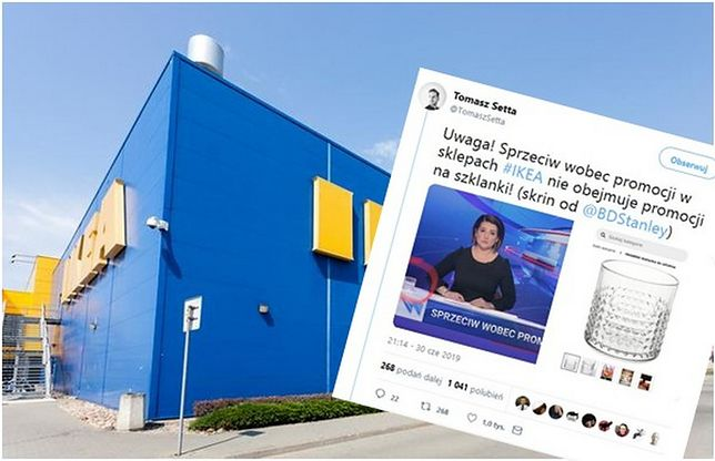 Afera w IKEA znalazła się na paskach wiadomości, tuż pod szklanką z... IKEA.