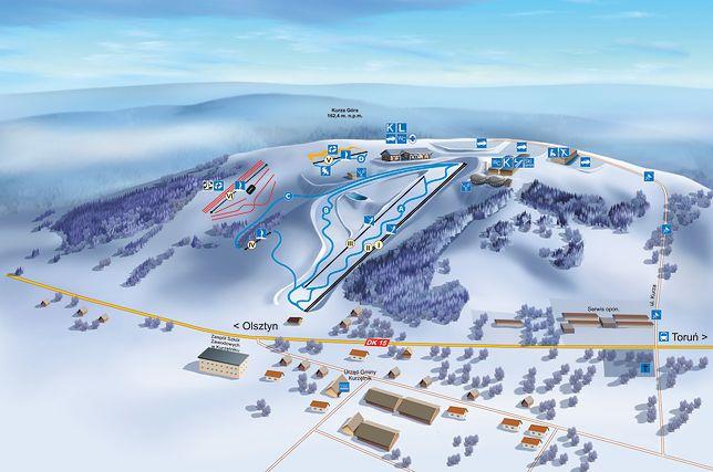 9c63dea618551 Gdzie na narty? Niekoniecznie w góry, stoki są też na Mazurach ...