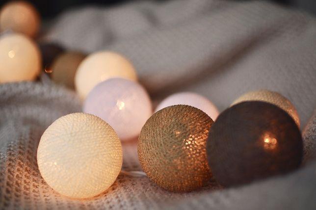 Cotton Balls Przebojowe Lampki Do Dekoracji Wnętrz Wp Dom