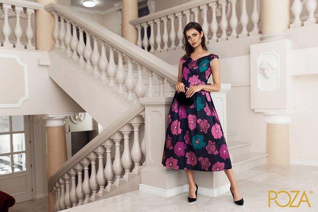 0bea8b3d80 POZA - sukienka w kwiaty - POZA - sukienki i sklepy - WP Kobieta