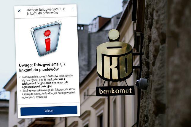 377629073 Oszustwa internetowe. PKO BP ostrzega klientów przed fałszywymi SMS-ami