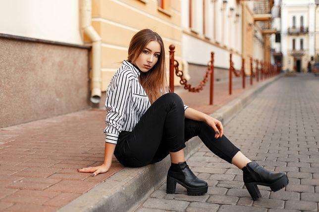 czarne rurki dziewczynki