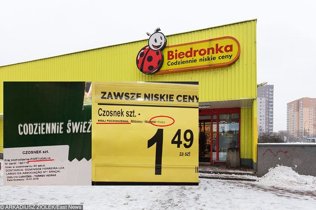 6ef3823c0f0fe4 Polski czosnek z Portugalii? AGROUnia pokazała zdjęcia, które zrobiła w  Biedronce. Sieć odpowiada