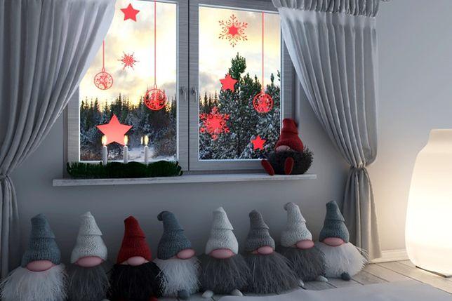 Znalezione obrazy dla zapytania świąteczna dekoracja okna