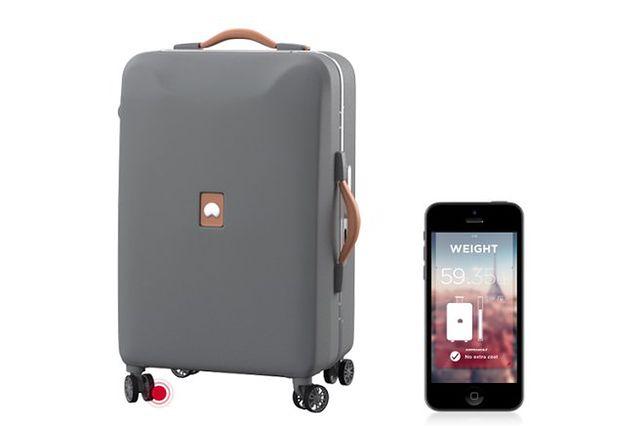 7fcb00cd56ab6 Już nigdy nie zgubisz bagażu! Elektrofoniczna walizka z wagą i WiFi ...