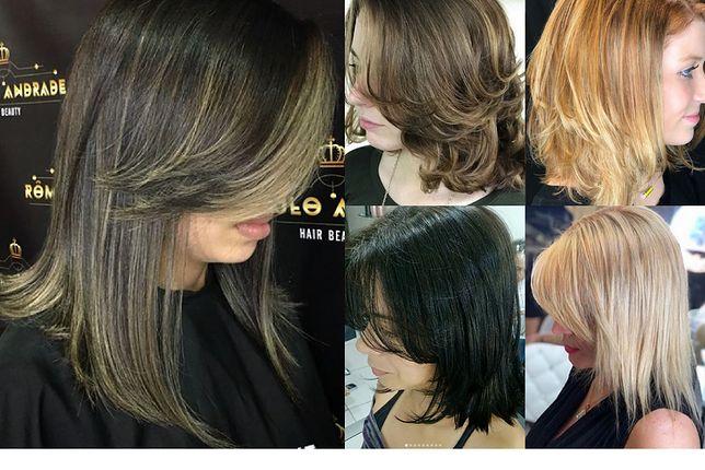 Modne Fryzury Z Włosów Do Ramion Ombre Cieniowane I Z