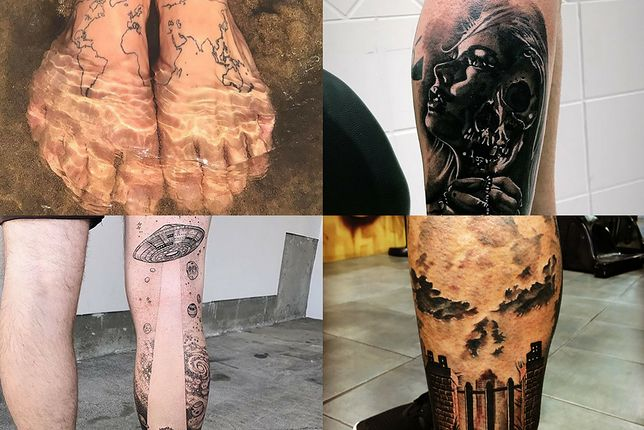 Wzory Tatuaży Na Nogę Wp Kobieta