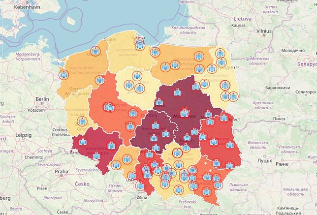 Koronawirus Ta Mapa Polski Pozwala Sledzic Rozwoj Epidemii