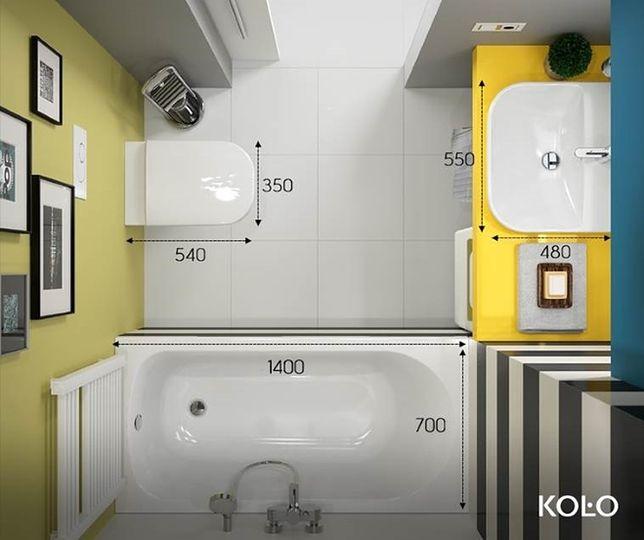 Mała łazienka Wymagane Odległości Porady Architekta Wp Dom