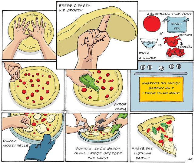 Pizza Krok Po Kroku Krój Gotuj Wow Ilustrowana