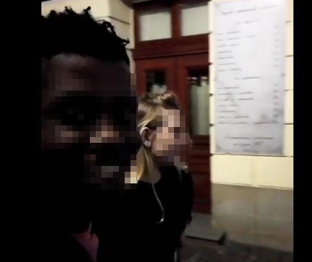 czarny mężczyzna seks z białą kobietą seksowny dekolt