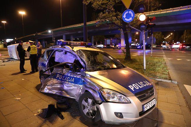 Do wypadku doszło na skrzyżowaniu ulic Żwirki i Wigury i Hynka w Warszawie