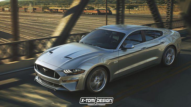 Przyznacie - czterodrzwiowy Mustang nie wygląda źle