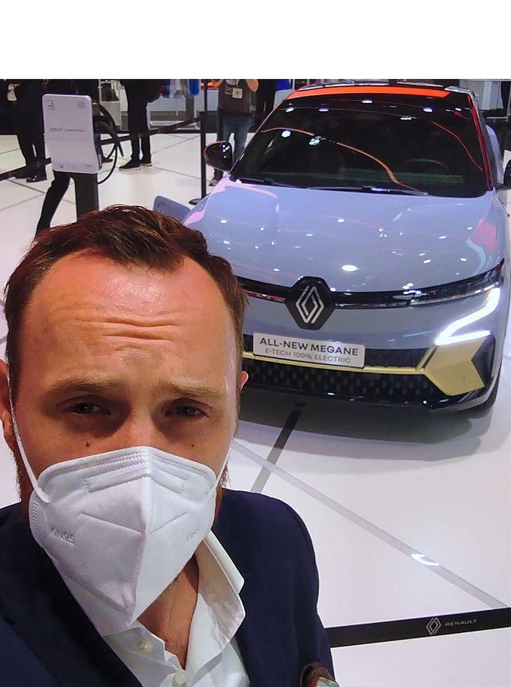 Autor tekstu z Renault Megane E-Tech na IAA 2021
