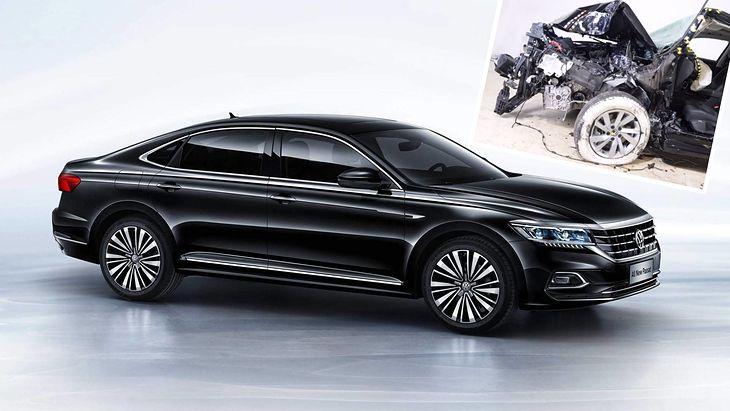 Volkswagen Passat przed i po crash-teście