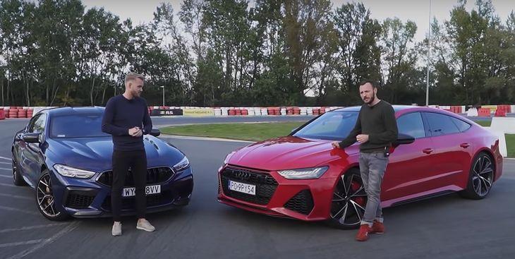 BMW M8 Gran Coupe i Audi RS 7 Sportback w porównaniu Mateusza Żuchowicza i Mateusza Żuchowskiego