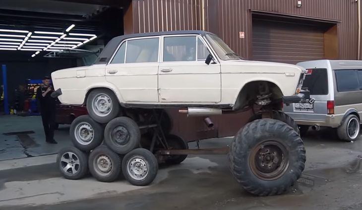 Tak wygląda samochodowy potwór Frankensteina w rosyjskim wydaniu