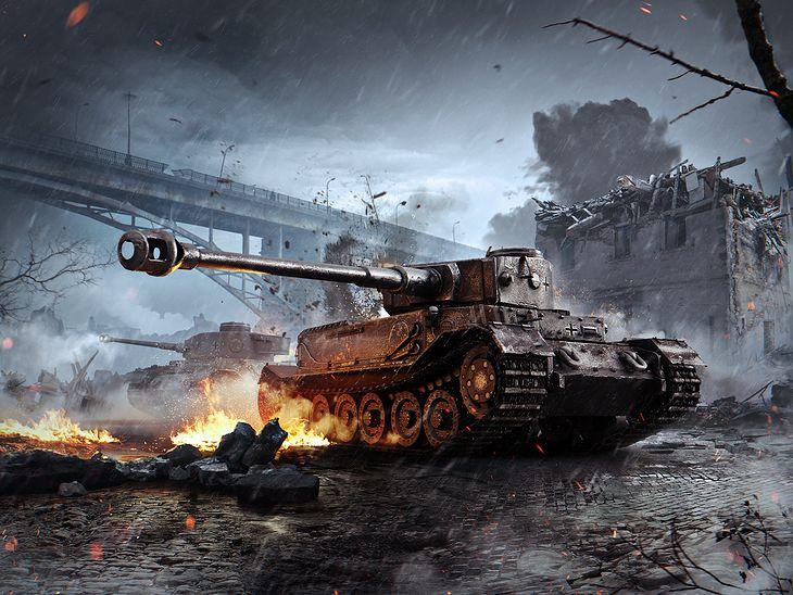 Animacja Tygrysa (P) w grze Word of Tanks