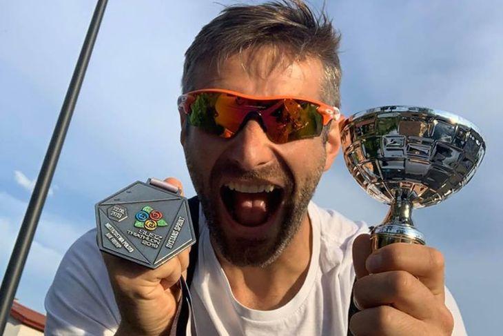 Maciej Dowbor po zawodach triathlonowych